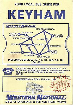 Bus Timetable - Keyham Western National Plymouth Devon - May 1989 - Unmarked