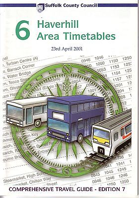Bus Timetable - Haverhill Suffolk First Eastern Counties Stagecoach - Apr 2001