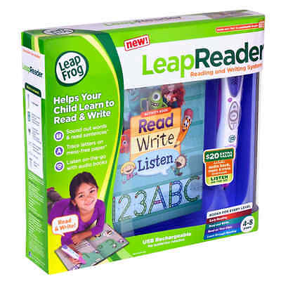 Leapfrog LeapReader Pink Reading Writing System Learning Interactive Kids NEW