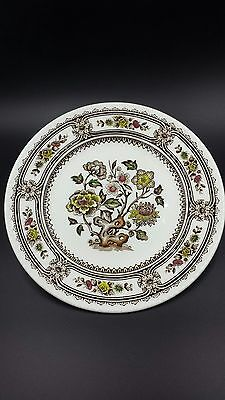 "Brown Transferware Wood's and Sons Dorset Salad Dessert Plate 8"" Foral Toile"