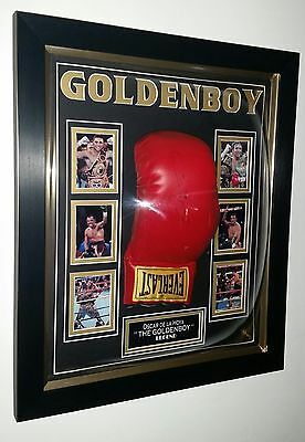 *** NEW Oscar De La Hoya SIGNED BOXING GLOVE Autograph Display **