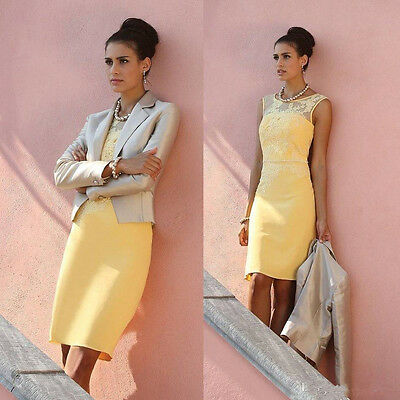 Yellow Lace Mother of the Bride Dress with Jacket Groom's Mother Dress Plus Size