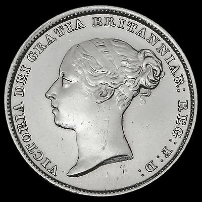 1839 Queen Victoria Young Head Silver Sixpence – Scarce – EF