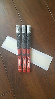 Golf Pride New Decade Multi-C MIDSIZE RED ( 3 Grips ) MCC Plus4 & free Grip tape