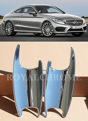 MERCEDES BENZ NEW C CLASS W205 COUPE CHROME DOOR SCOUP CUP TRIMS X 2 2014 on