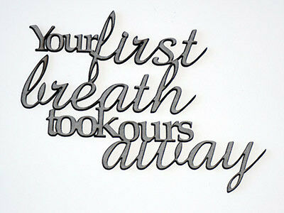 2 Crafty Chipboard - Your First Breath Took Ours Away
