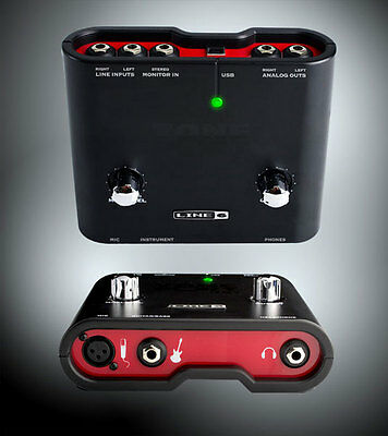 Line 6 Ux1 Toneport Guitar Audio Interface Sound Card Usb 2