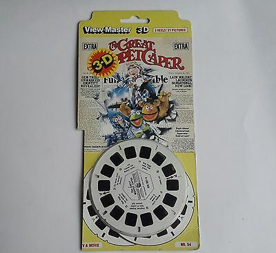 Viewmaster three reel carded packet set 3d Muppets The Great Muppet Caper Movie