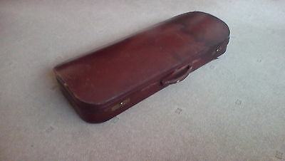 vintage double leather violin case by W E Hill