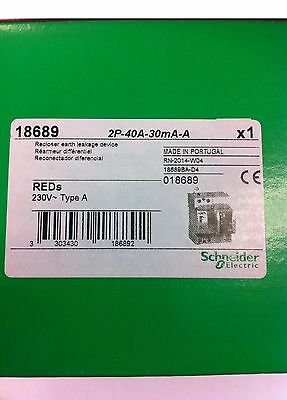 Diferencial Rearmable Marca Schneider Electric 40/2/30 mA Clase A Ref: 18689