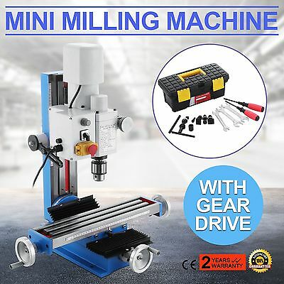 Mini Milling Drilling Machine With Belt Drive 550W Motor Mill Tool Sameday Ship