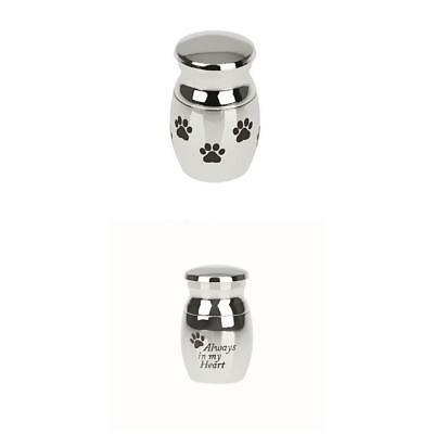 2pcs Always in my Heart Paw Print Cremation Memorial Urn Holder for Dog Cat Pets