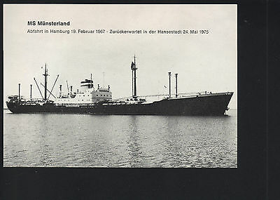 Photocard : MS Münsterland - Hapag / Hamburg Amerika Linie !