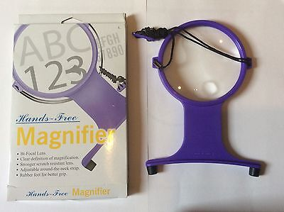 LACEMAKING EMBROIDERY SEWING CROSS STITCH.Magnifying Glass, Hands Free. NEW!!
