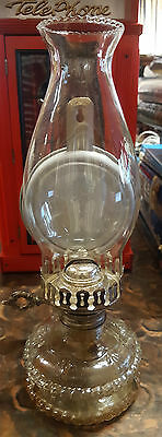 Vintage Wall Mount/table Oil/kerosene Lamp With Glass Shade & Reflector