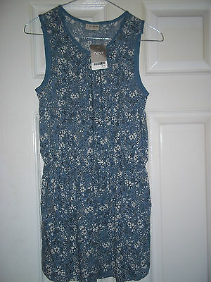 Next Girls blue & white floral  Playsuit Age 11 Years brand new with tags
