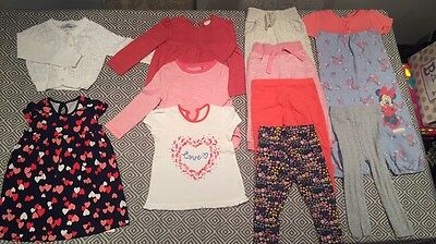 Baby Girl Aged 12-18 Months 11 Piece Clothing Bundle