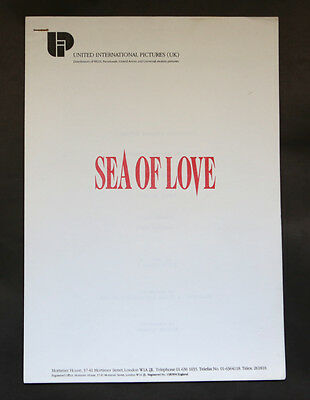 Al Pacino Sea Of Love Production Notes / Press pack
