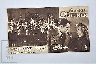 1934 Movie Advertising Image - Stand Up and Cheer, Actress: Shirley Temple