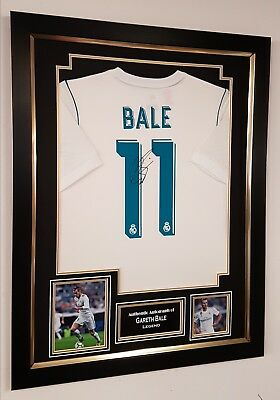* NEW Gareth Bale of Real Madrid Signed Shirt Autograph Display * CHAMPIONS