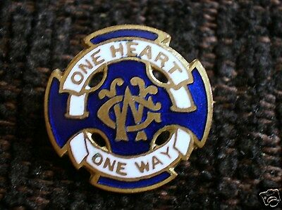 Original Wesley Guild Enamel Pin Badge One Heart One Way See Pics