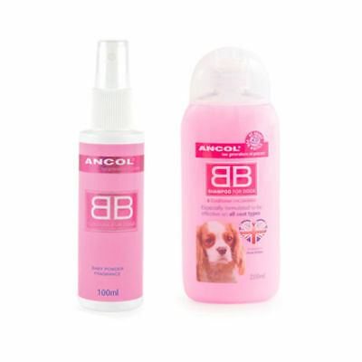 Ancol 200Ml Bb Dog Shampoo And Bb Cologne 100Ml Freshening Spray Set