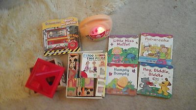 Baby toy bundle toy sorter ,animal cube puzzle ,book,light up CD player unisex