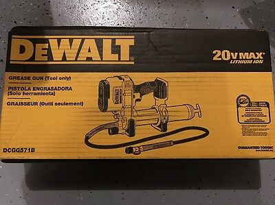 New DEWALT DCGG571B 20V MAX Cordless Lithium-Ion Grease Gun Tool-Only DCGG571
