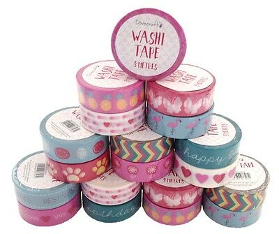 Dovecraft Decorative Washi Tape 8 m  - 12 Stunning Designs to Choose From