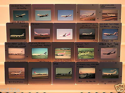 20 Original Colour Slides of Airliners - Boeing 747s