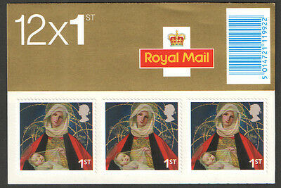Lx29 2005 Royal Mail 12X First Class  Stamps Christmas Booklet