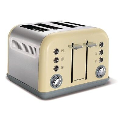 Morphy Richards Toaster New Accents 4 Slice Cream EBGN609-A