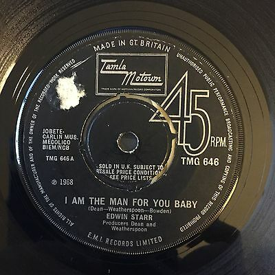 """7"""" edwin starr i am the man for you baby tamla motown northern soul mod"""
