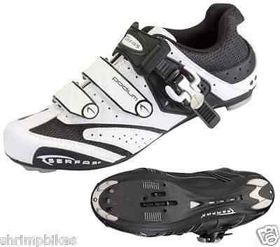 Serfas Road Cycling Clip Shoes [White] [Podium]