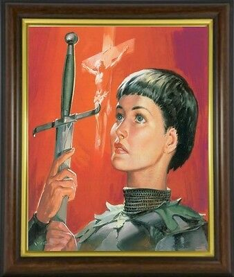 Joan Of Arc Roman Catholic Saint Framed Picture Print Statues Candles Etc Listed