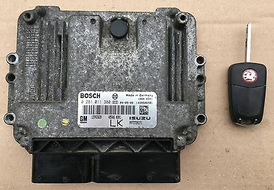 Genuine Vauxhall Astra H 1.7 Cdti Diesel Engine Ecu Brain With Key 12992628
