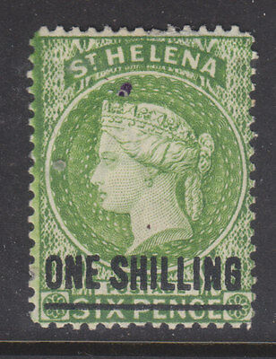 St Helena 1884 Sg 45 thinned top right corner m-mint