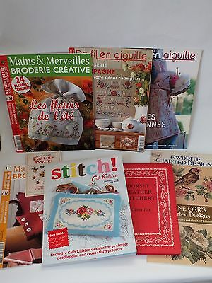 Job Lot Vintage Sewing Embroidery Cross Stitch Cath Kidston  Books Patterns