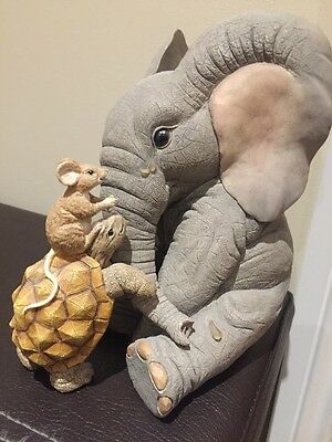 Huge Tuskers ' That's What Friends Are For ' 8 Inches Tall. Limited Edition
