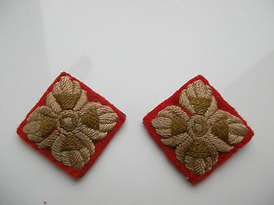 WWII British Army Infantry Officer's Cloth Pips - Pair