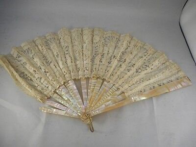 Beautiful Mother of Pearl CHINESE Hand Fan
