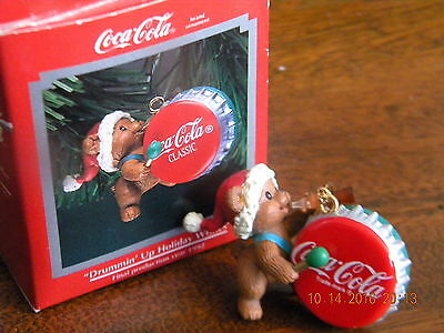 "Enesco 1992 ""drummin' Up Holiday Wishes"" Coca-Cola Christmas Ornament"
