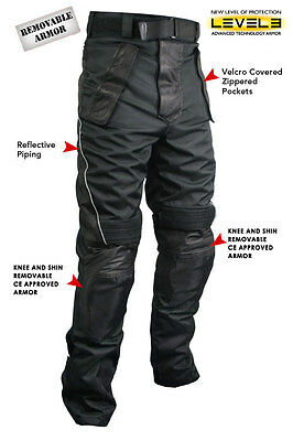 Xelement Men's Tri-Tex Fabric and Leather Motorcycle Racing Pants
