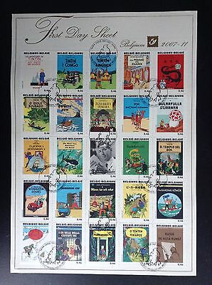 First Day Sheet Tintin FDS 2007 Timbres Hergé ETAT NEUF