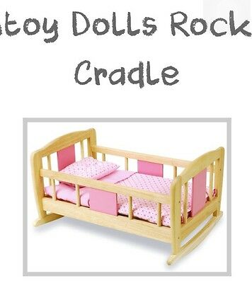 Solid Baby doll cradle rocker Cot RRP$99.99