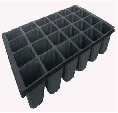 Saxon 24-CELL SEED GARDEN TRAY Reusable Easily Stackable for Compact Storage 3Pc