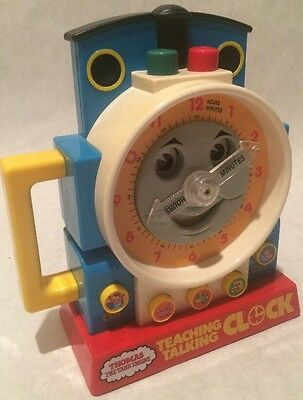 Vintage 1992 Thomas The Train Engine Teaching Talking Clock Excellent Condition