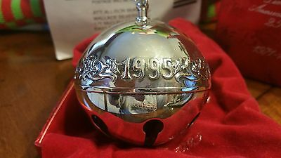 Wallace Silversmiths Limited Edition 25th Anniversary Sleigh Bell 1995 Silver
