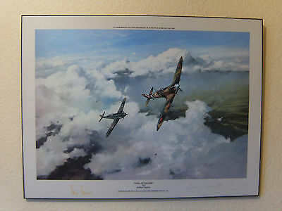 Duel Of Eagles Print Signed By Bader & Galland