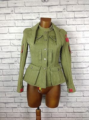 Christian Dior Women's Green Vintage Quilted Jacket, Size 10
